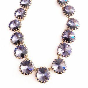 J. CREW lavender glass stone statement necklace